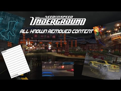 The NFS Underground Beta (All Removed Content) ft. HGCentral