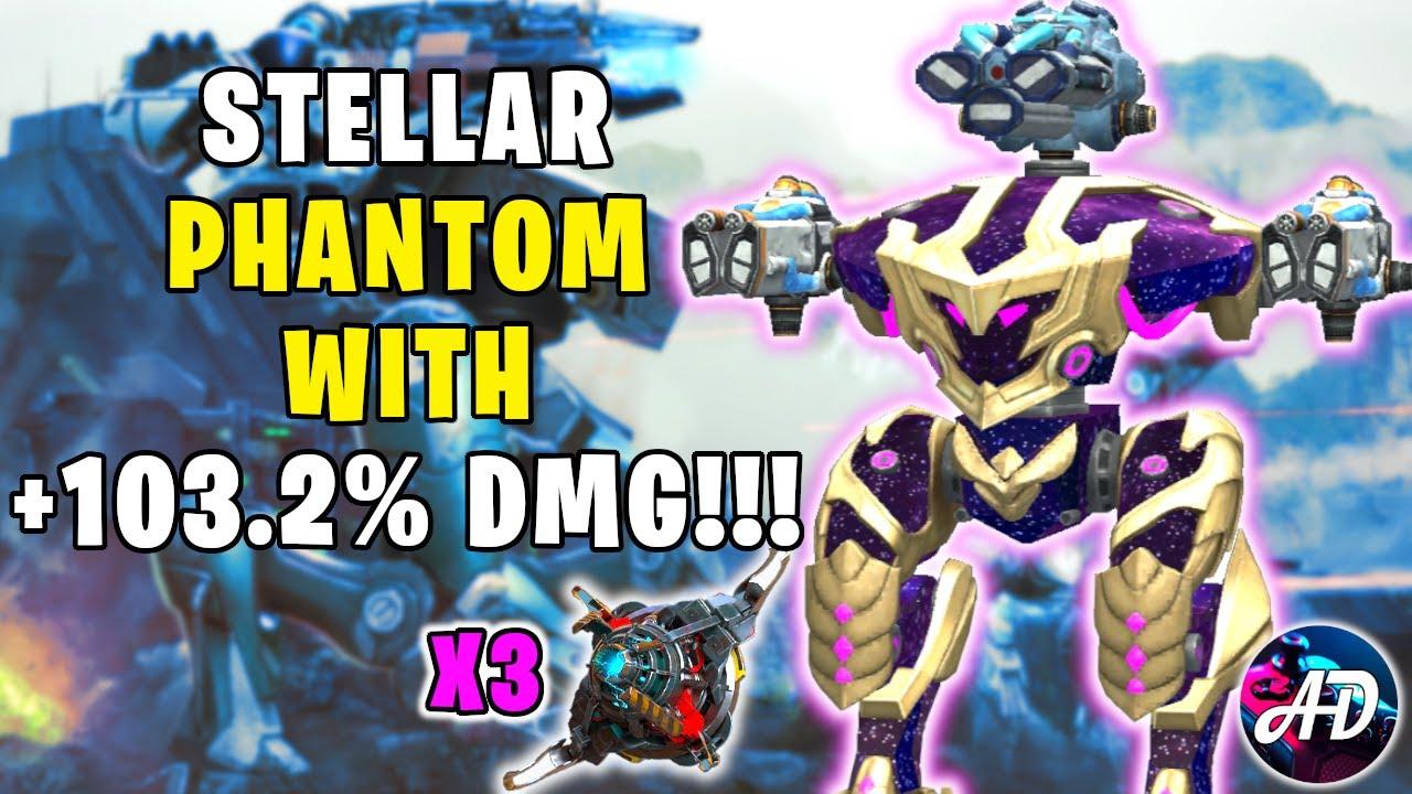 3x OVERDRIVE STELLAR PHANTOM CRYO & RIME +103.2% DMG! | War Robots 6.2 MK2 WR Gameplay