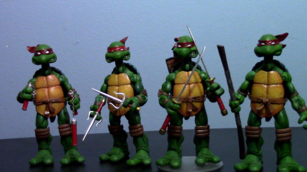 Teenage Mutant Ninja Turtles Toys : Bootleg neca comic style teenage mutant ninja turtles