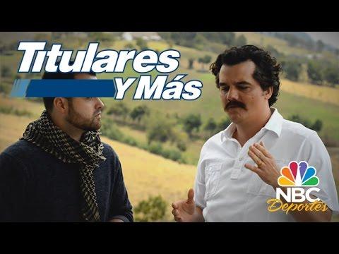 Entrevista a Wagner Moura, protagonista de la serie Narcos | Titulares y Más | NBC Deportes