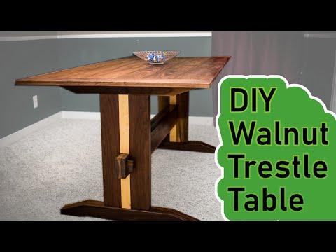 DIY - Walnut Trestle Table