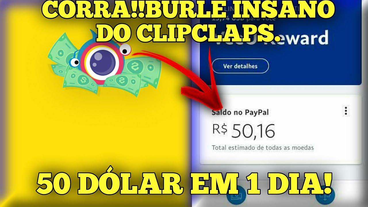 💸COMO BURLAR O CLIPCLAPS E GANHAR ATÉ 50 DÓLAR POR DIA RÁPIDO E FÁCIL!!