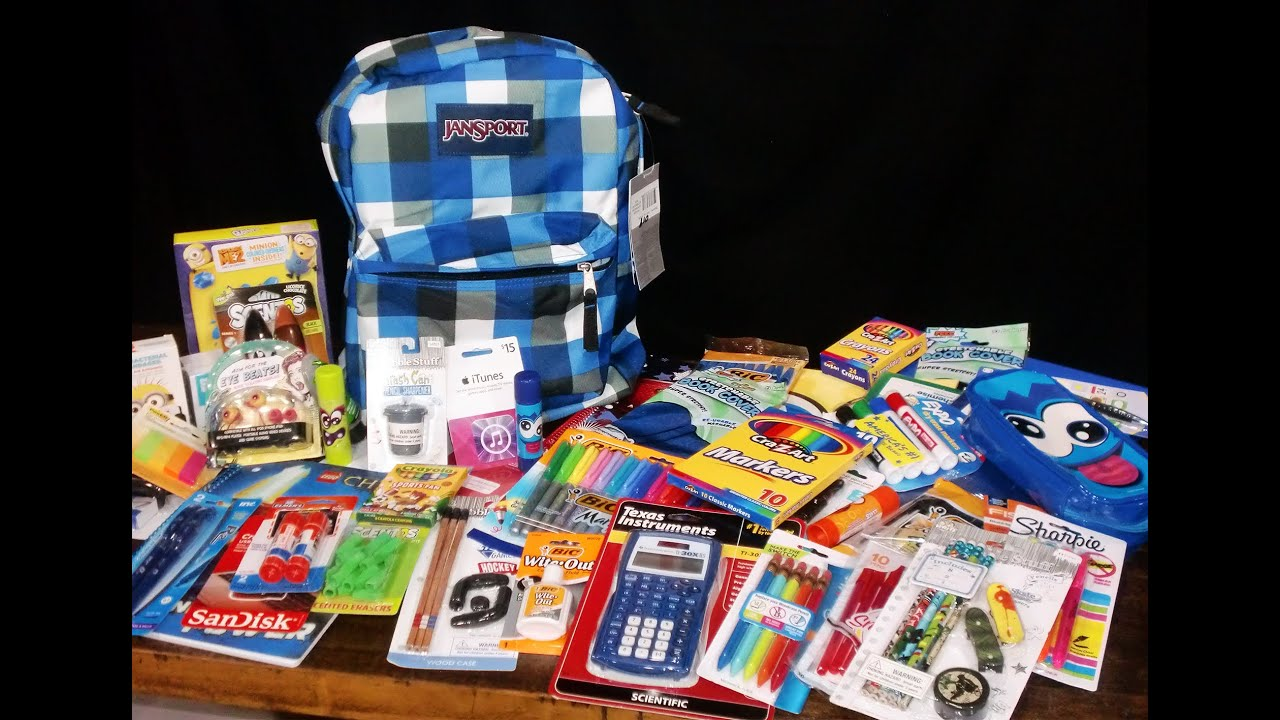 boys back to school supplies haul givewaway kidtoytesters closed youtube - Suplies