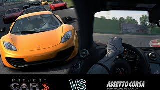 Assetto Corsa vs Project Cars - Gameplay [1080p]