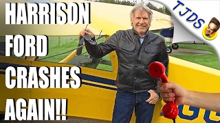 Harrison Ford Nearly CRASHES His Plane AGAIN!