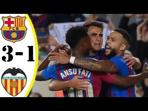 Barcelona vs. Valencia - Football Match Report - October 17, 2021 ...