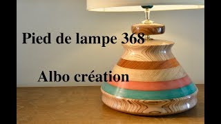 PIED DE LAMPE 368. Pao Rosa.