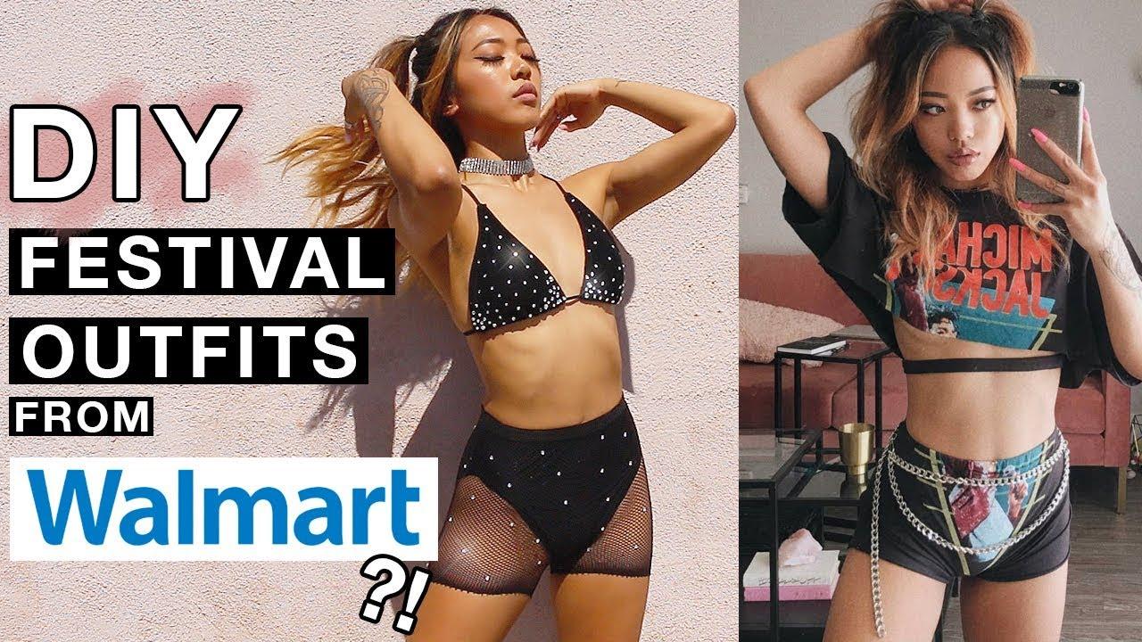 [VIDEO] - DIY Cheap Walmart Clothes Into Cute Festival Outfits! | Nava Rose 3
