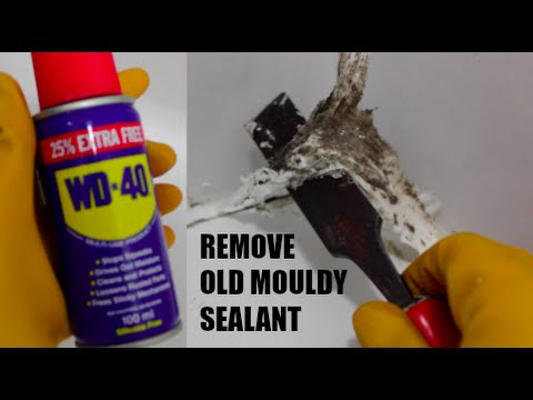 how to remove mouldy bathroom shower sealant with wd40 like a boss youtube. Black Bedroom Furniture Sets. Home Design Ideas