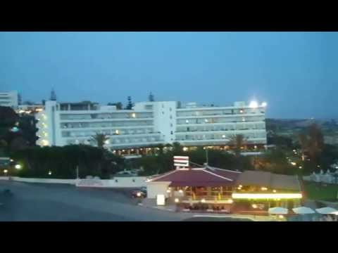 Alion Beach Hotel Aya Napa Cyprus In The Evening