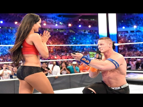 FULL MATCH - John Cena & Nikki Bella vs Miz & Maryse; Cena asks Nikki to Marry Him (WrestleMania 33)