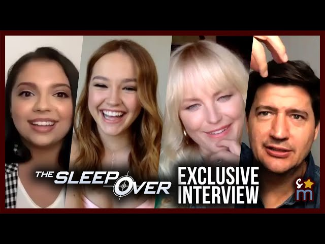 THE SLEEPOVER Cast Talk Bloopers, Fight Songs & More | Exclusive Interview