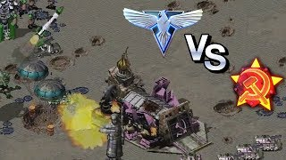 Command & Conquer: Red Alert 2 Allies vs Soviets 3 vs 3