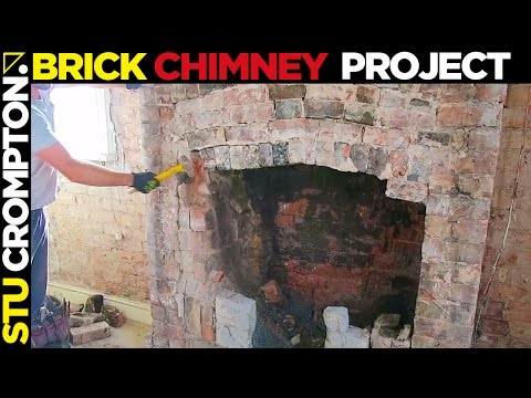 chimney breast brickwork feature project