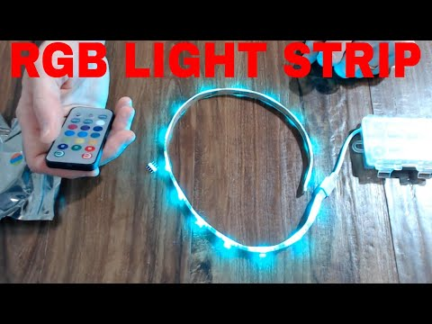 BATTERY POWERED RBG LIGHT STRIP WITH REMOTE UNBOXING AND REVIEW