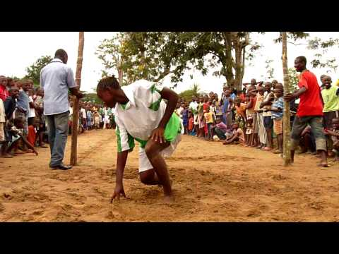 Congo school sports day high jump competition