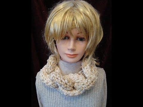 Scarf Patterns Crochet Pattern Chain Link Cowl Youtube