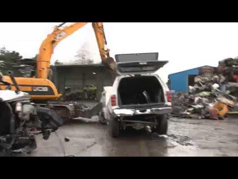 Police crush unsafe 'stretch limo'