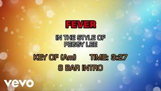 Peggy Lee - Fever (Karaoke)