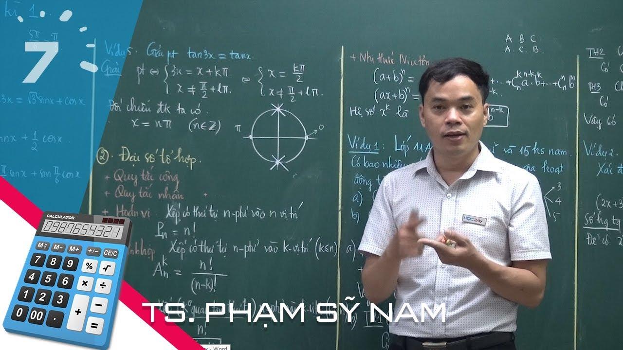 Ôn tập học kì 1 Toán 11: Phần 1 Đại số và Giải tích | HỌC247