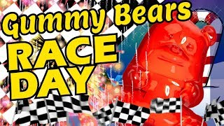 Christmas Gummy Bears Race with Numbers and Place Order Educational Math Video for Kids