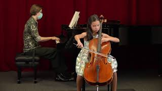 Kathryn playing Mazurka in G minor, Op.11, No.3, David Popper