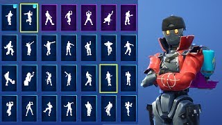 *NEW* Robo Rebels SKIN SHOWCASE WITH ALL FORTNITE DANCES & NEW EMOTES! (Fortnite Season 7 Skin)