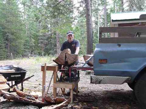 Homelite Splitter Splits Large Oak