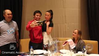 Manny Pacquiao Greets the Winners of the Pacquiao Foundation, and had Dinner with them.