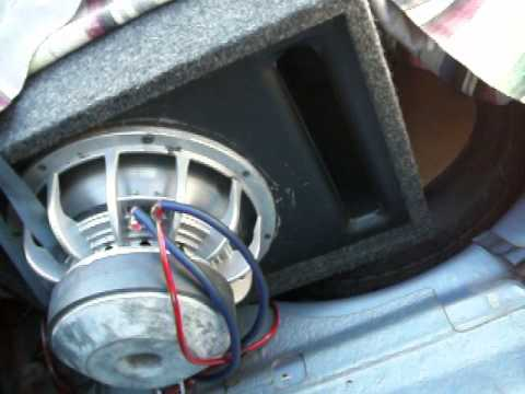 Single Fi Bl 12 Quot Sub Inverted In Ported Box Youtube