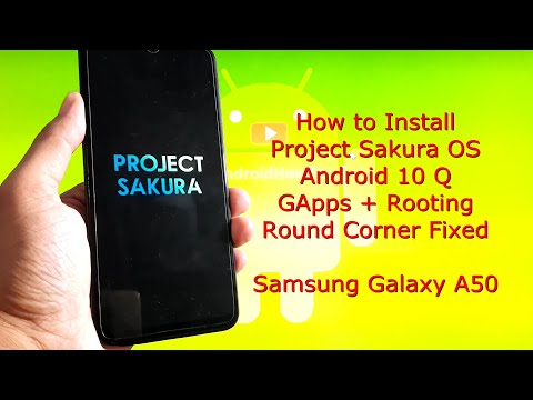 Project Sakura OS for Samsung Galaxy A50 Android 10 Q - Round Corner Fixed
