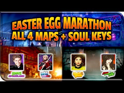 "FREE SOUL KEY ""EASTER EGG MARATHON"" (ALL 4 MAPS) Call Of Duty Zombies - Infinite Warfare Zombies"