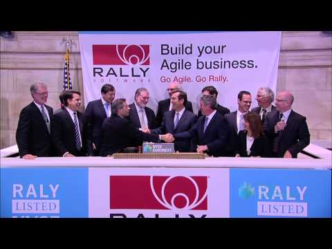 Rally Software Celebrates IPO on the New York Stock Exchange