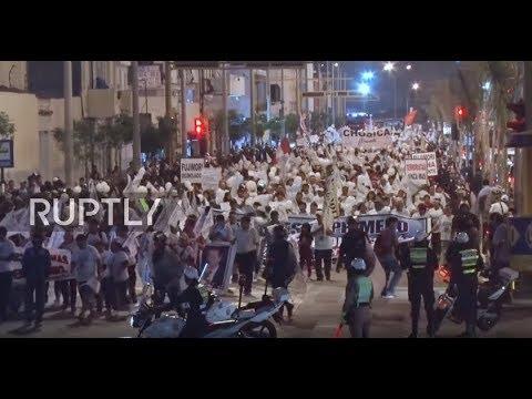 Peru: Hundreds march in Lima in celebration of Fujimori's pardon