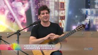 Violonista Fabio Lima se apresenta em Joinville