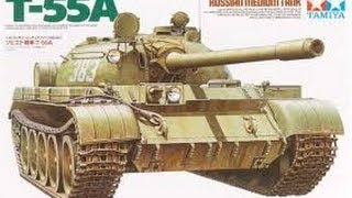 In Box Review Tamiya 1/35 T-55A Russian Medium Tank