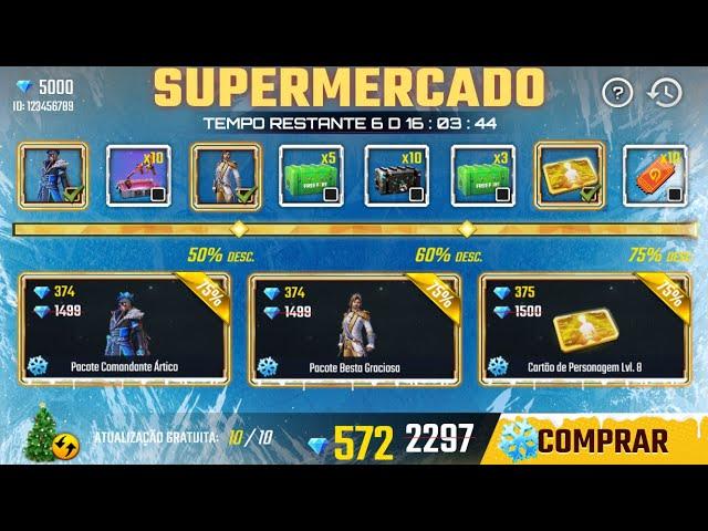 ZERANDO O NOVO SUPERMERCADO 9 0 DO FREE FIRE! O PIOR DE TODOS KKKK