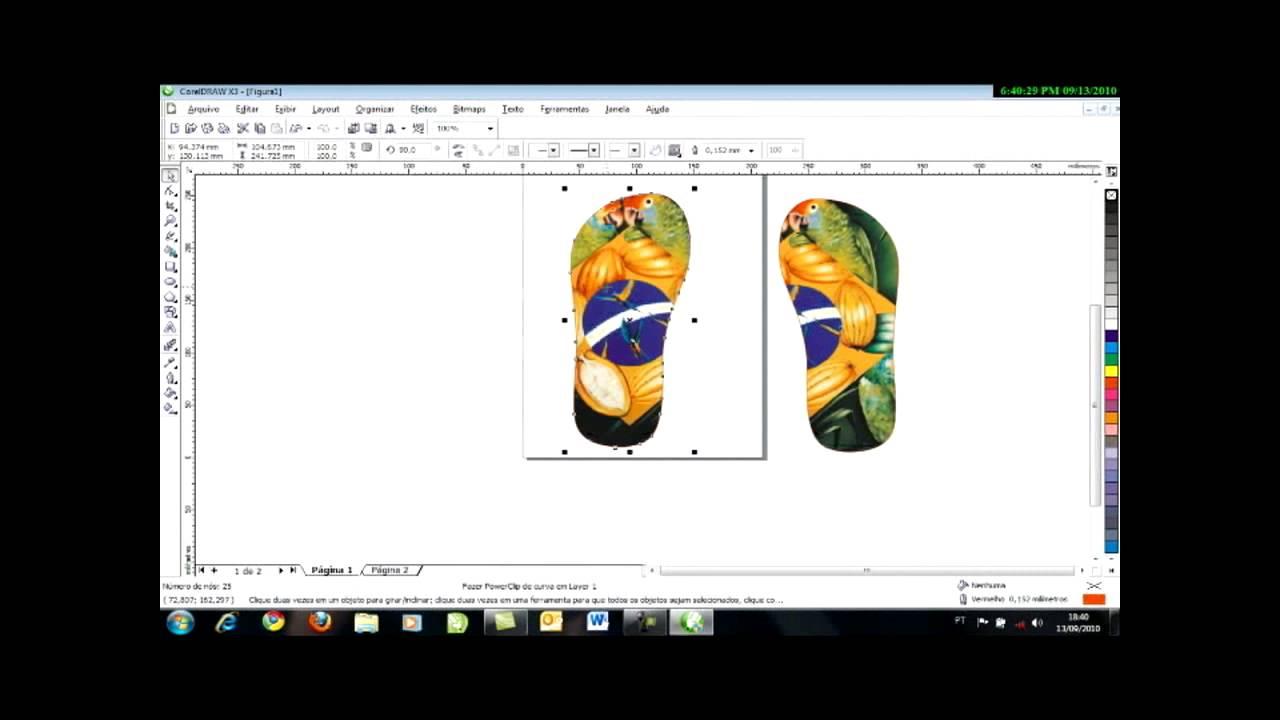3aa74455c como usar gabaritos para sublimar chinelos - YouTube