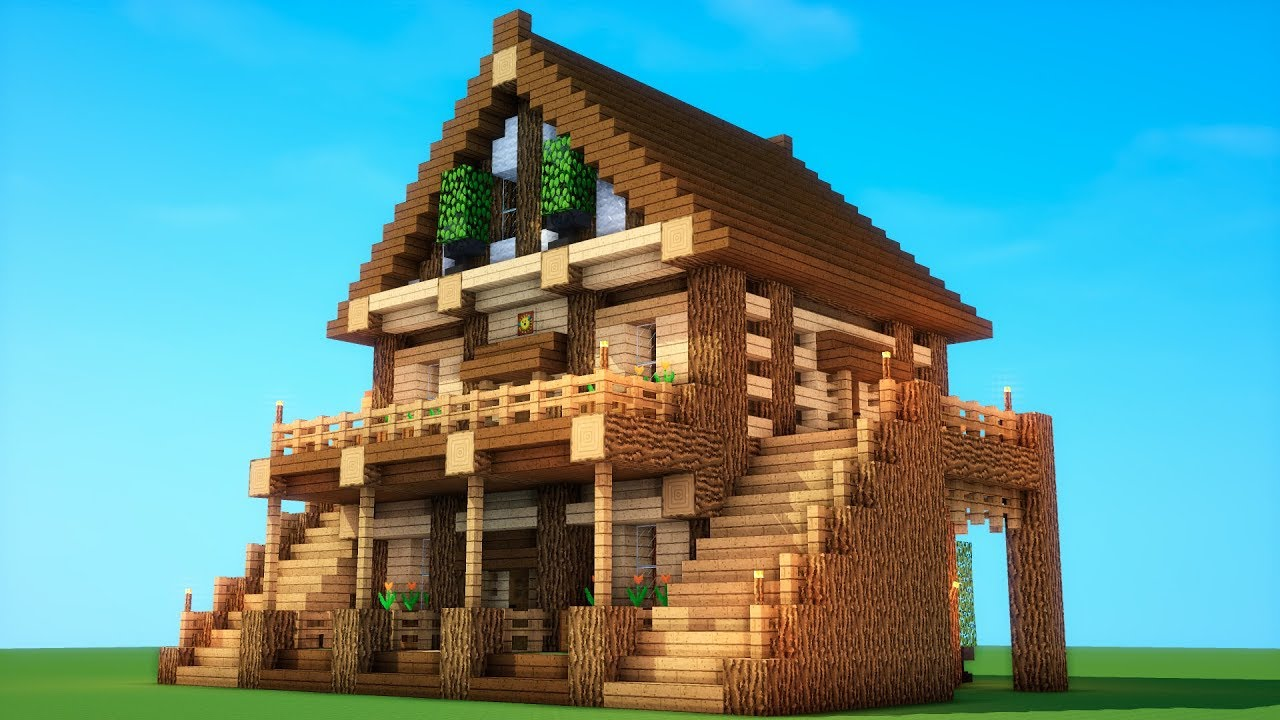 Epic Survival - How To Build A Survival House  Minecraft Mansion