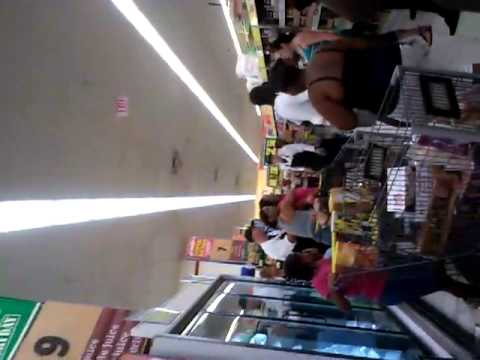 Fight At Food4Less In Moreno Valley.