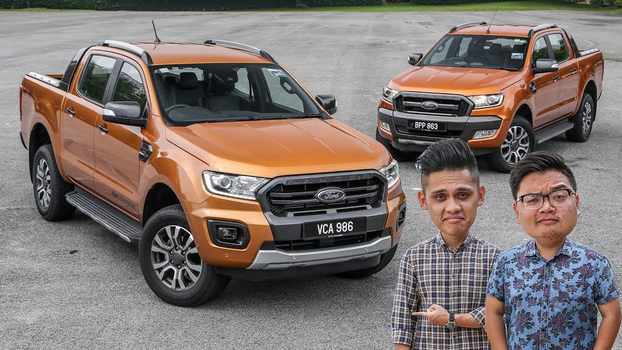 New Vs Old 2019 Ford Ranger 2 0l Wildtrak 4x4 2017 3 2l