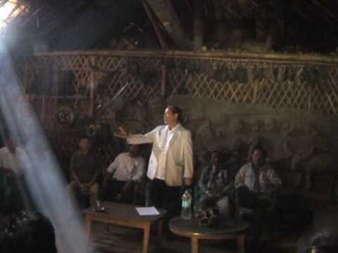 Mr Rio, Chief Minister of Nagaland visit Longsha's house in Longwa