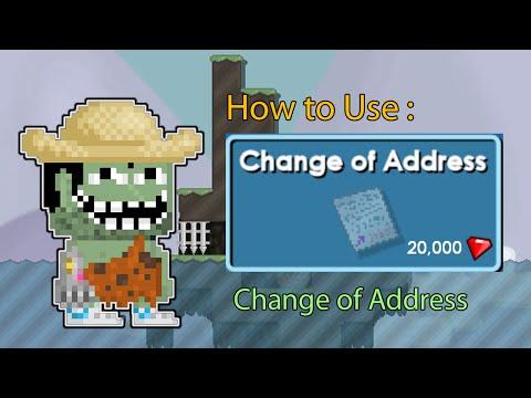 Growtopia How to Use Change of Address [Change World Name]