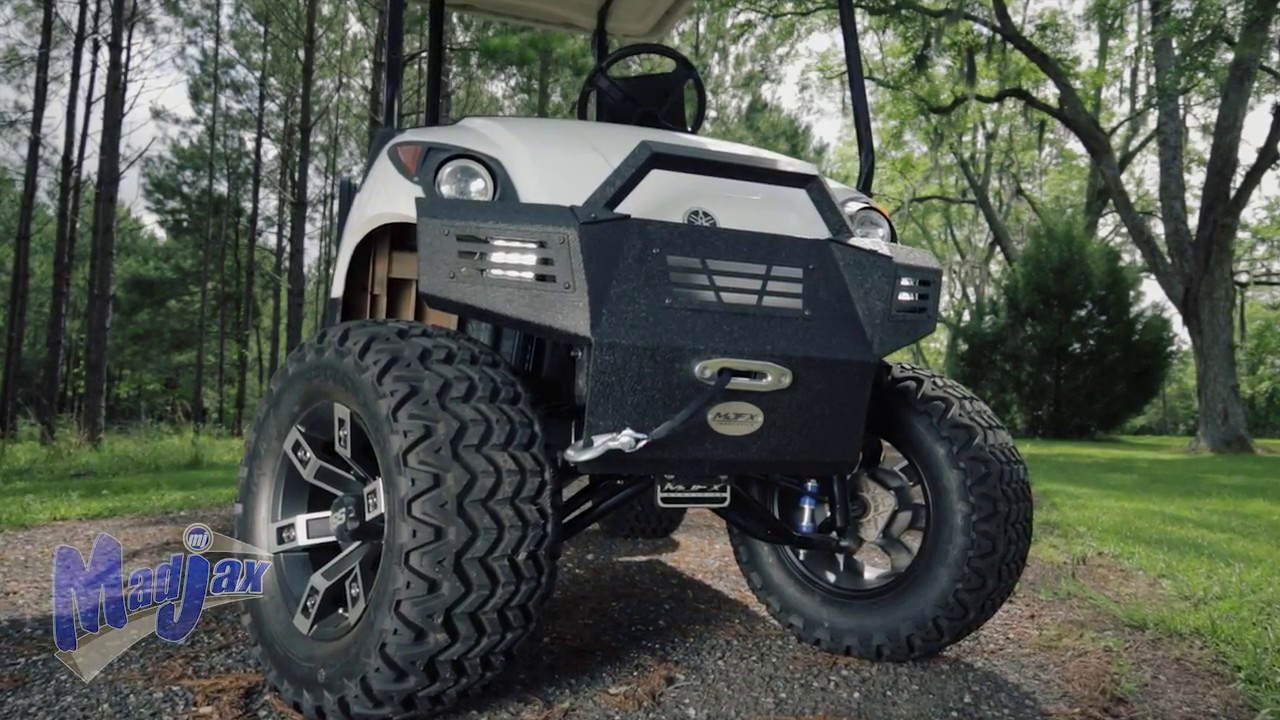 Yamaha Golf English Sun Diagram Elevation Armor Bumper For Drive How To Install Video Madjax Cart Accessories