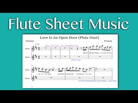 Love Is An Open Door - Frozen (Flute Sheet Music)