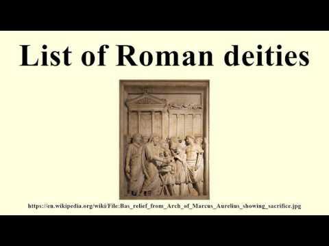 List of Roman deities