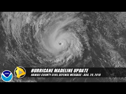 Hawaii County Civil Defense Hurricane Madeline Update (Aug. 29, 2016)