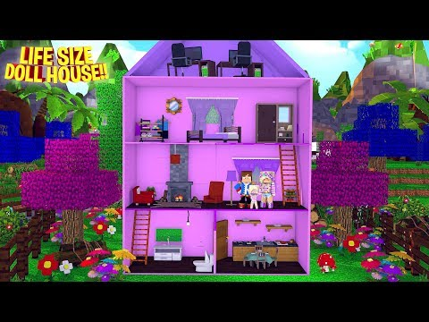 OUR BABY DAUGHTER GETS A GIANT LIFE SIZE DOLL HOUSE!! Minecraft - Little Donny Adventures