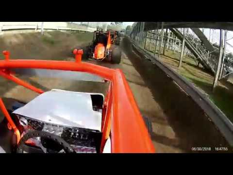 Kennedale Speedway Park Mini Sprint Hot Laps 6/30/2018
