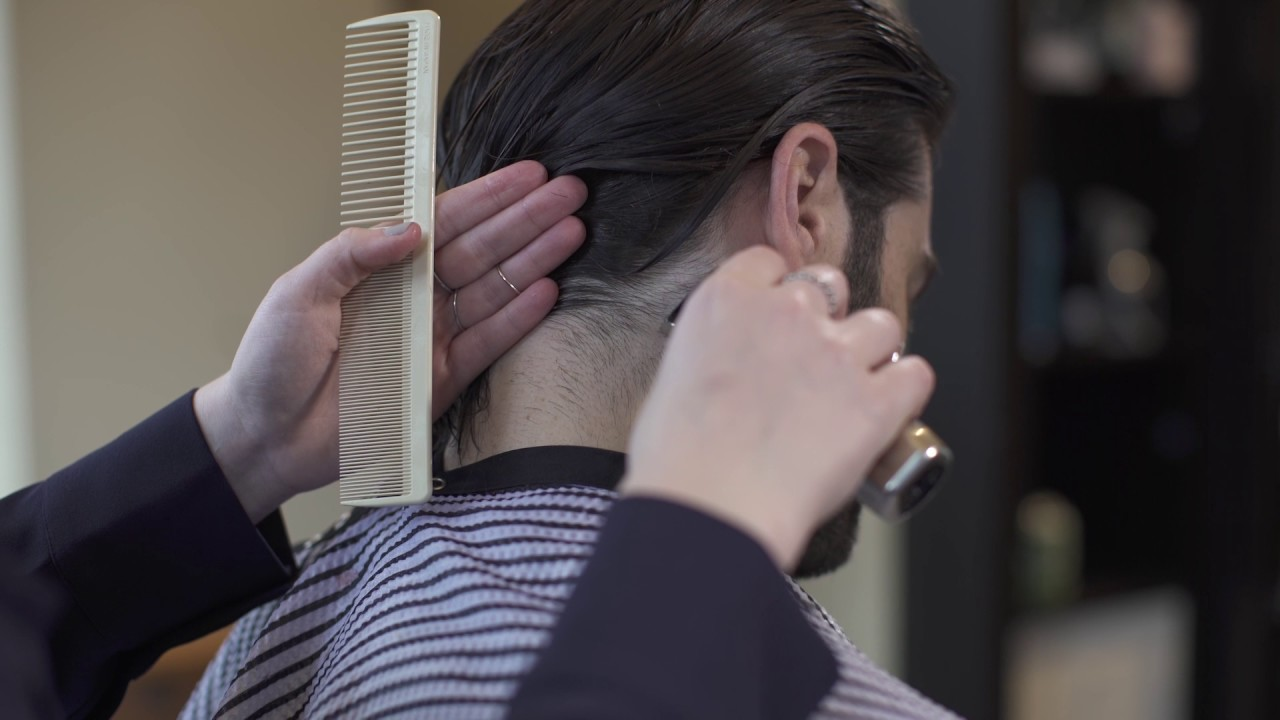 How To Trim Sideburns And Neck Hair On Men S Long Hair Youtube